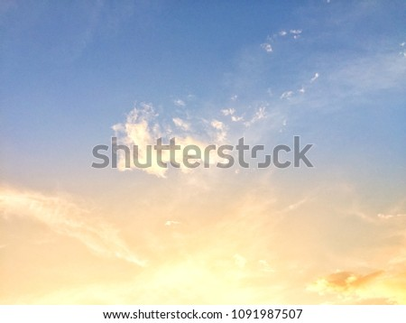 Sunlight and cloud natural background #1091987507