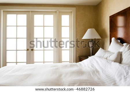 sunlight lit bedroom