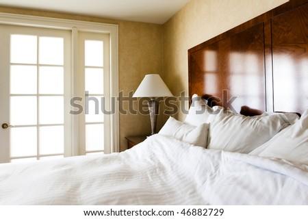sunlight lit bedroom