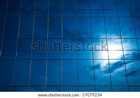 Sunlight reflection on glass building