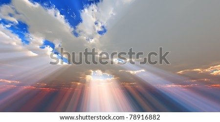 Sunlight through the clouds