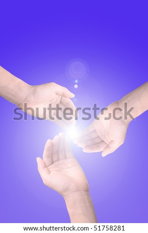 sunlight through the hands