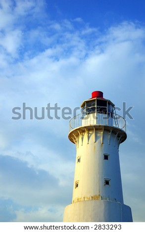 sunlit lighthouse