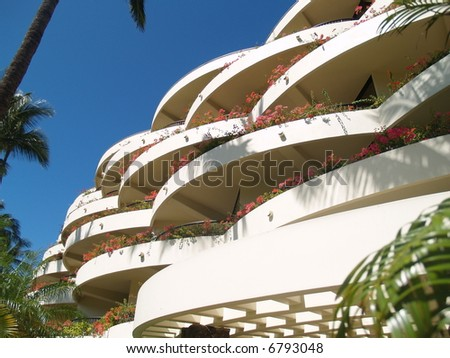 sunny balcony with flowers