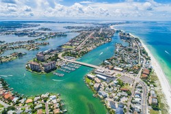 Sunny beach vista from St. Pete Beach, FL