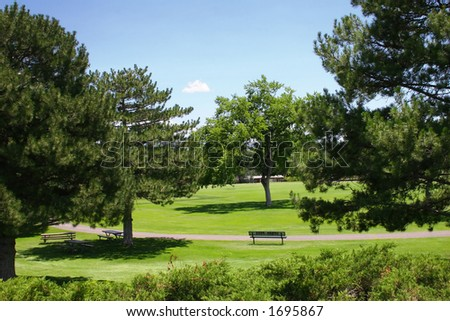 Sunny Day At A Park Stock Photo 1695867 : Shutterstock