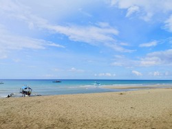 sunny day at Sugar Beach, Sipalay, Negros Oriental, Philippines