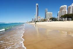 Sunny day at the beach, Gold Coast, Australia