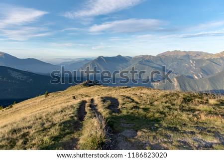 Sunny day at the Pic de la Casamanya, Andorra