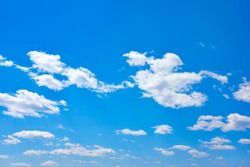 Sunny day, blue sky and clouds