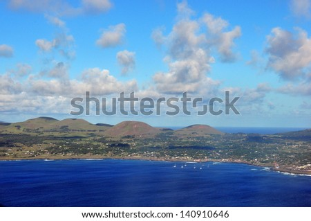 Sunny day on the island of Curacao in the Caribbean