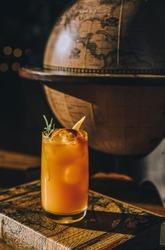 sunny designer cocktail for travelers