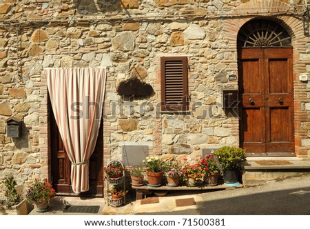 sunny entrance to the tuscan home, Italy, Europe