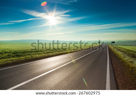 Shutterstock Sunny road