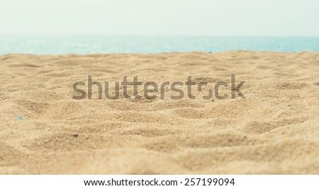 sunny sand beach #257199094
