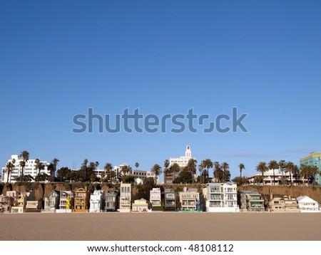 Sunny Santa Monica beach life in southern California.