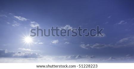 Sunny sky background.