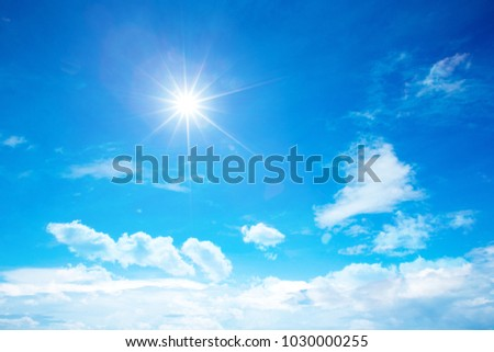 sunny sky background whith clouds #1030000255
