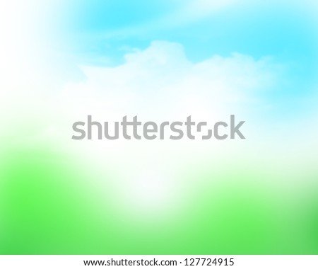 Sunny sky blurred bokeh abstract background