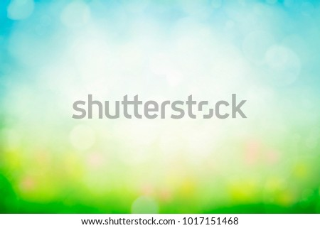 Sunny spring meadow blur background #1017151468