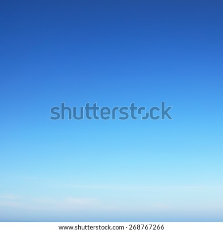 Sunny summer blue sky #268767266