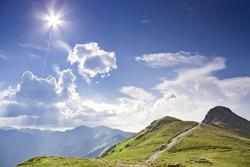 Sunny tatras - high mountain in Europe.