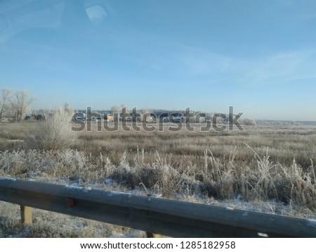sunny winter landscape #1285182958