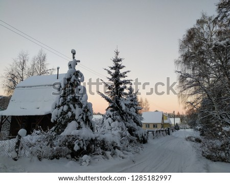 sunny winter landscape #1285182997