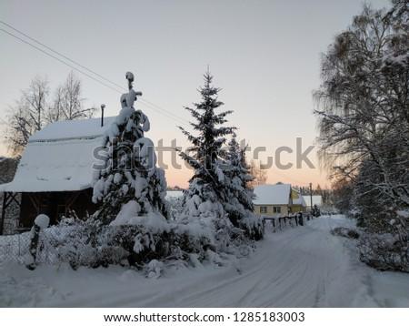 sunny winter landscape #1285183003