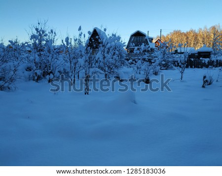 sunny winter landscape #1285183036