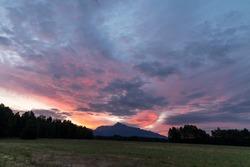 Sunrice with Krivan, Hight Tatras, Slovakia