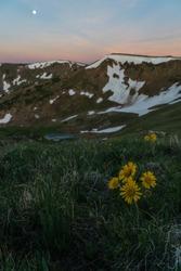 Sunrise above Berthoud Pass, near Winter Park, Colorado.