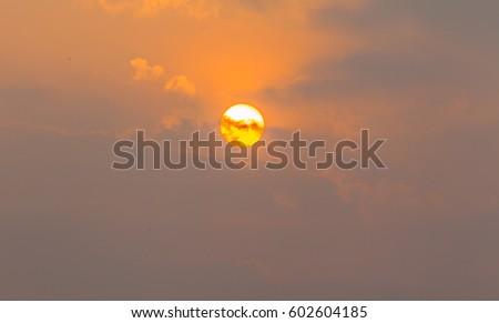 sunrise above the Khun Dan Prakarn Chon Dam Royal Projects #602604185