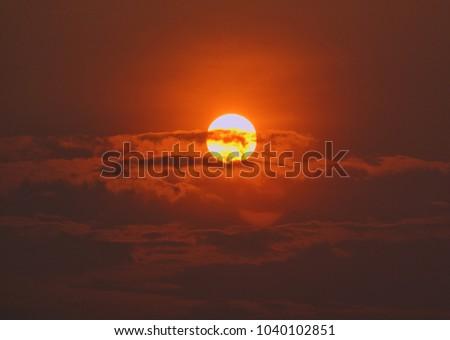 sunrise and cloud #1040102851