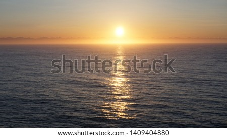 Sunrise and sunrise seen from a cruise ship in Alaska, United States