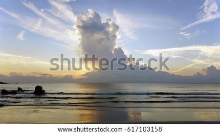 sunrise at a china sea #617103158