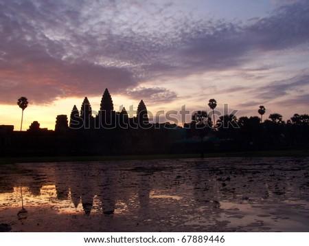 Sunrise at Angkor Wat temple in Siem Reap, Cambodia