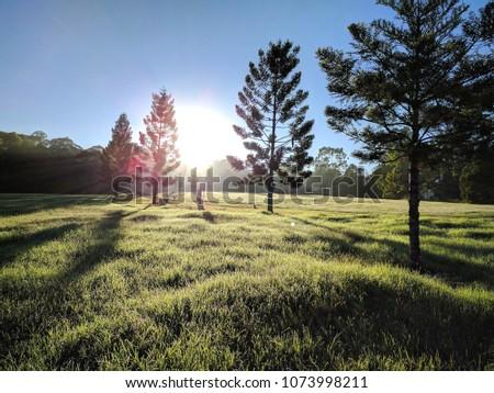 Sunrise at Castle Hill Heritage Park, Sydney