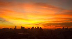 Sunrise at city of Bangkok, Thailand