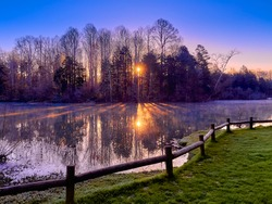 Sunrise at Cove Lake State Park in Caryville, TN.