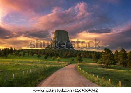 Sunrise at Devils Tower, Wyoming #1164064942
