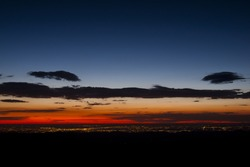 Sunrise at 13,000 feet you can see Denver from here. Mount Evans Wilderness, Front Range, Colorado.
