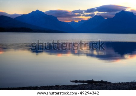 Sunrise at Lake McDonald in Glacier National Park, Montana