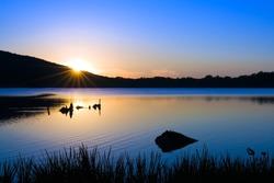 Sunrise at Locust Lake State Park,Pennsylvania