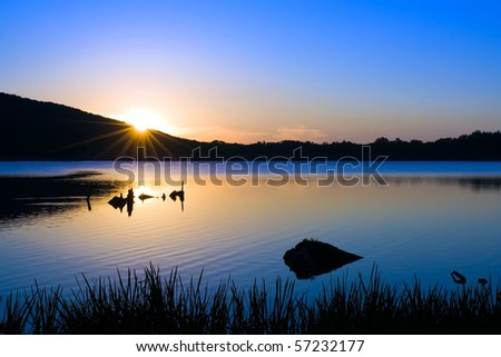 Sunrise at Locust Lake State Park,Pennsylvania