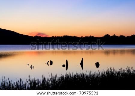 Sunrise at Locust Lake State Park, Pennsylvania