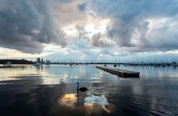 Sunrise at Matilda Bay in Perth