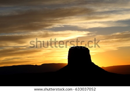 Sunrise at Merrick Butte, Monument Valley Navajo Tribal Park #633037052