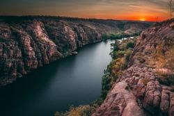 Sunrise at Nitmiluk gorge, Katherine, Northern Territory Australia