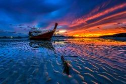 Sunrise at Phuket south of Thailand.